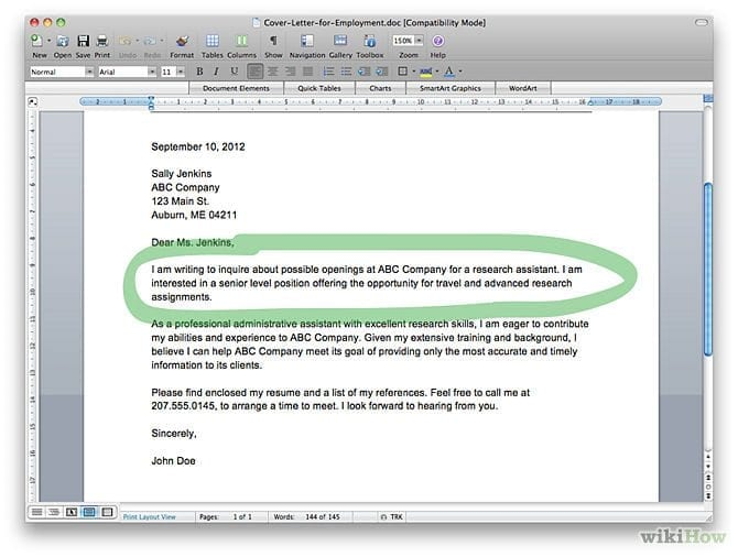 670px write a cover letter step 9 - Cover Letter To Company