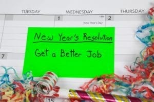 New Year's Resolution to Get a Better Job.