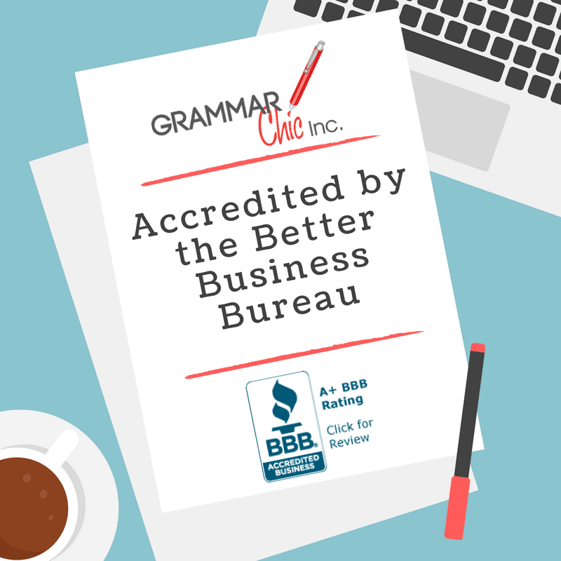 Grammar Chic, Inc. Earns Better Business Bureau Accreditation